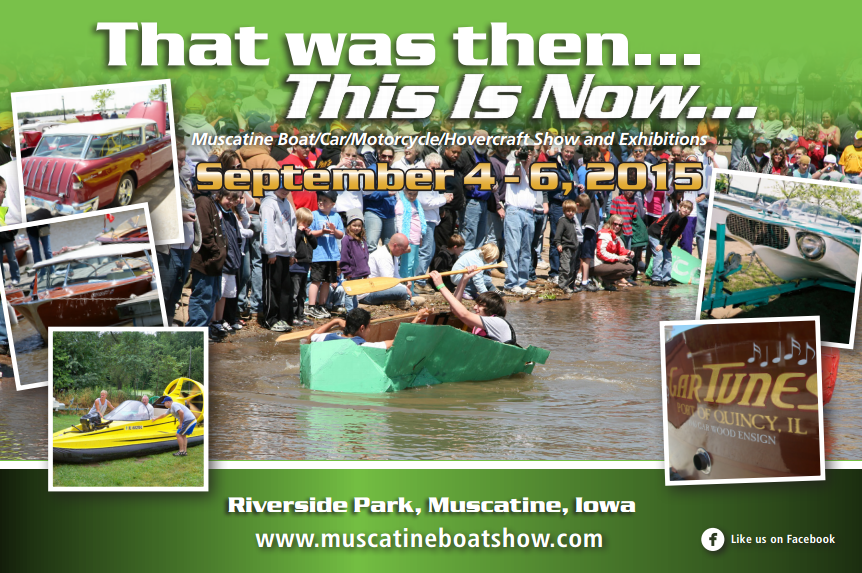 Image of the That was then...This is now boat/car/motorcycle/hovercraft show poster