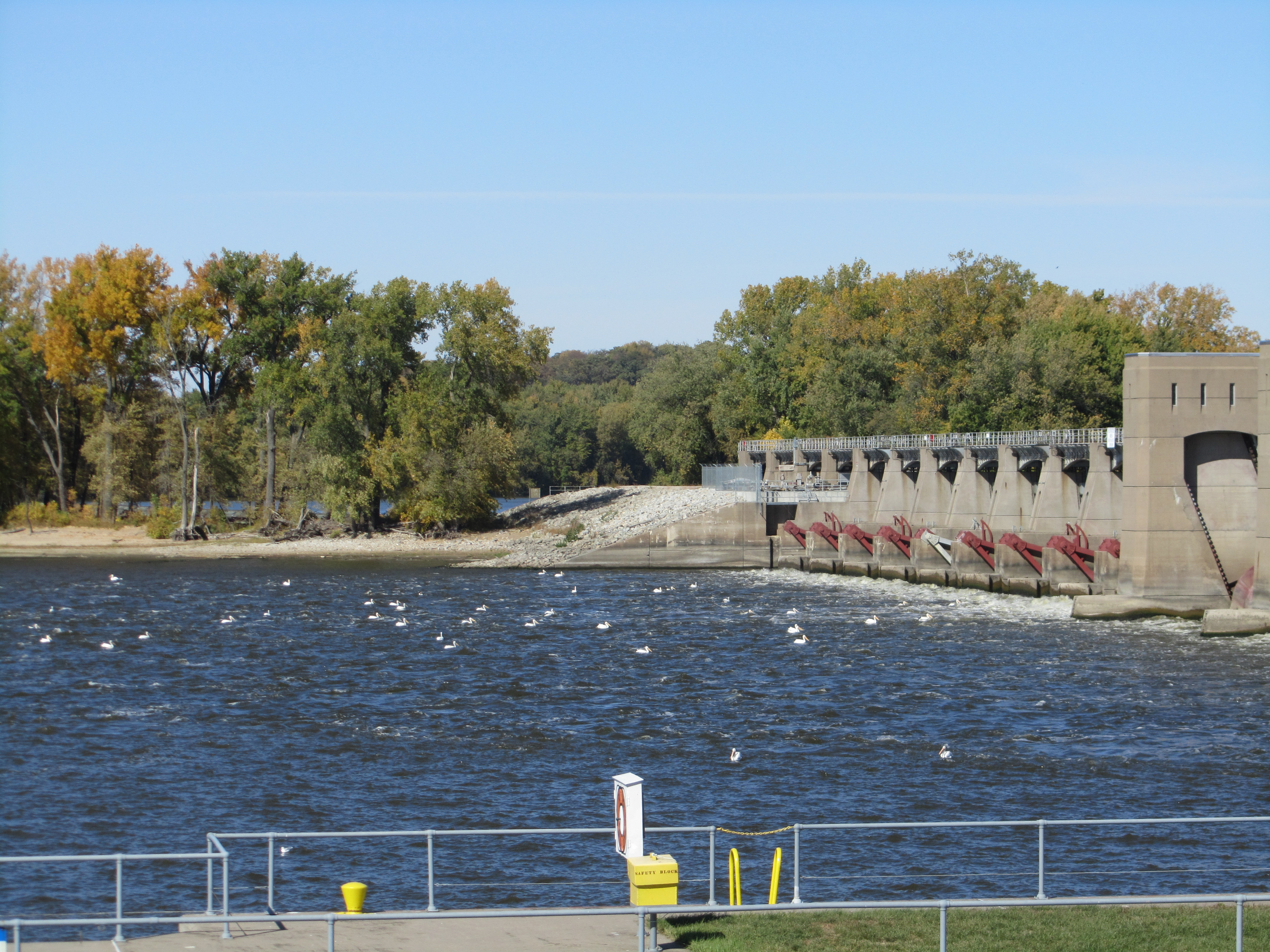 Levy at Lock and Dam #16